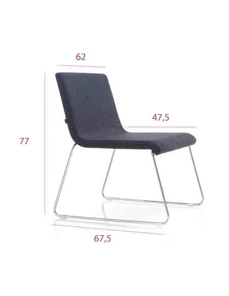 Medidas silla sala espera etnia de inclass