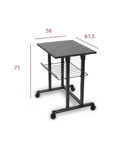 Medidas mesa auxiliar impresora de systemtronic