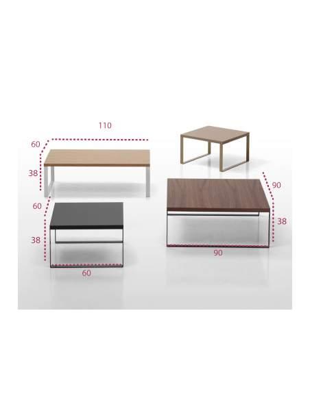 Medidas mesas bajas de centro para sala de espera avalon de inclass