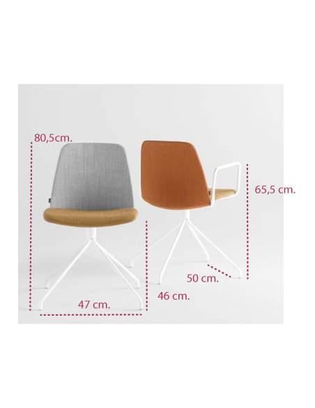 Medidas silla de diseño unnia giratoria de inclass