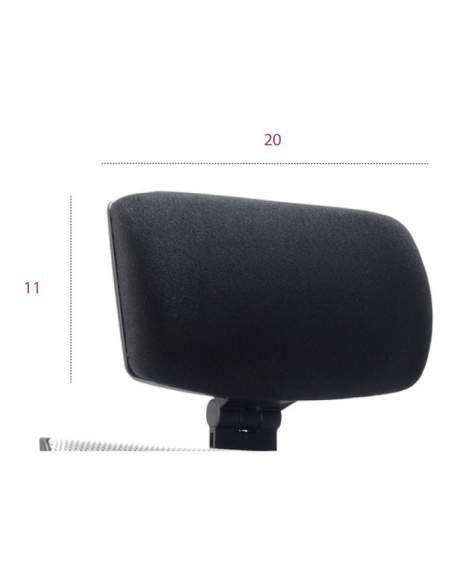 Medidas cabezal ergonómico silla kind malla tecno-ofiss