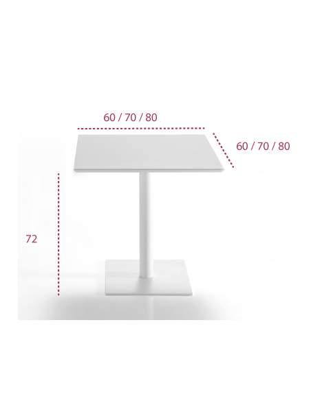 Medidas mesa cuadrada oficina flat de inclass