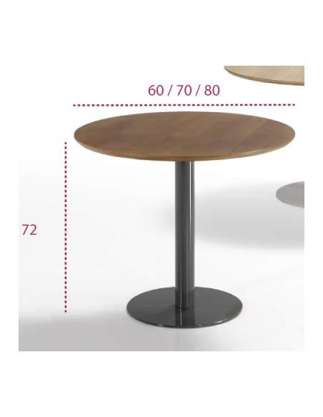 Medidas mesa redonda flat de inclass