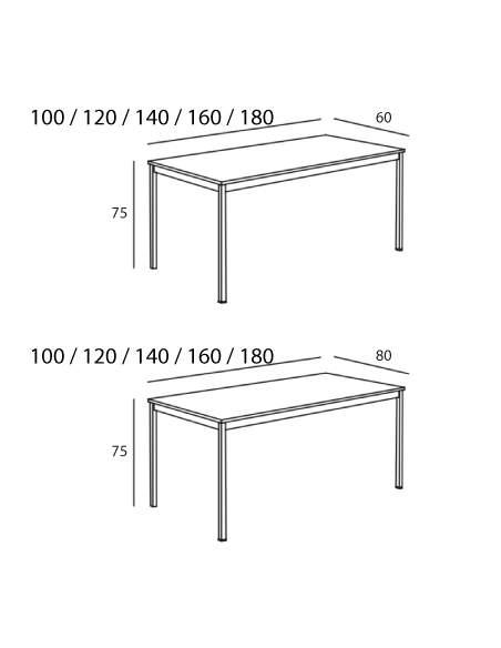 Medidas mesa escritorio Line de kesta