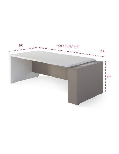 Medidas mesa despacho oficina g3 de jgorbe lateral grueso