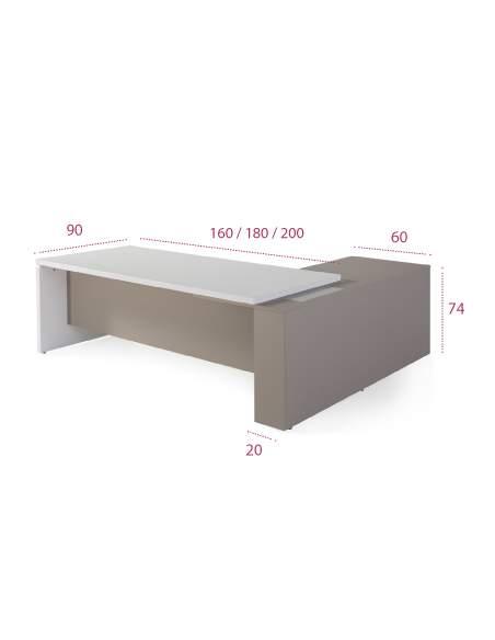 Medidas mesa de direccion oficina g3 premium de jgorbe