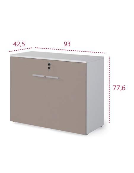Medidas armario oficina bajo con puertas y cerradura serie g3 de jgorbe