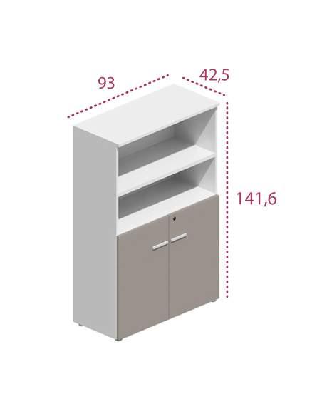 Medidas armario mediano de oficina con puertas bajas g3 de jgorbe