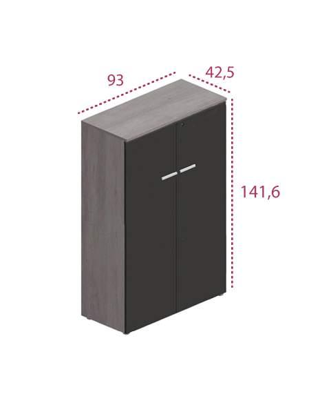 Medidas armario oficina madera con puertas y cerradura g3 de jgorbe