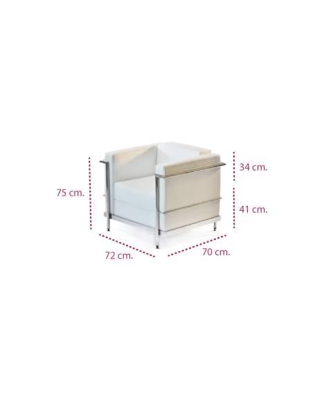 Medidas sofá 1plaza ágora universal estilo clásico