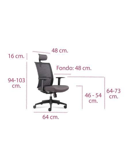 Medidas silla de trabajo arko o verona de vincolo