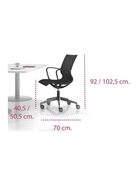 Medidas silla moderna de diseño zero de inclass