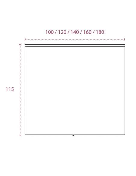 Medidas mostrador recepcion barato de colores basic de jgorbe