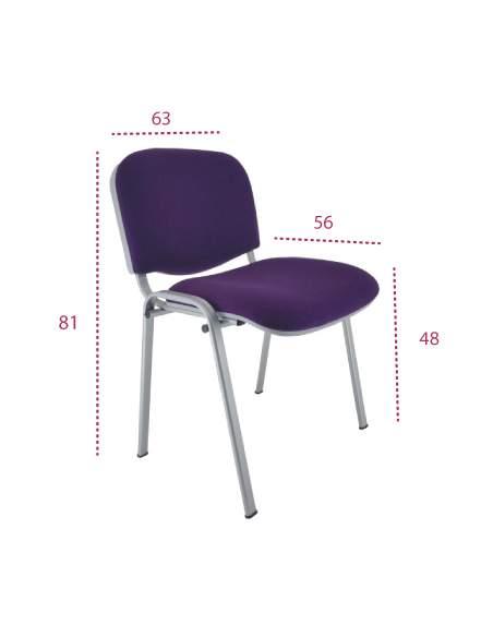 Meiddas silla oficina fissa de vincolo con estructura y carcasa gris
