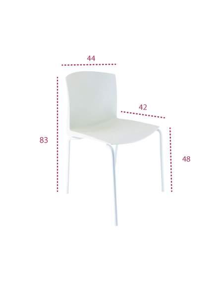 Medidas silla confidente blanca cloe de vincolo