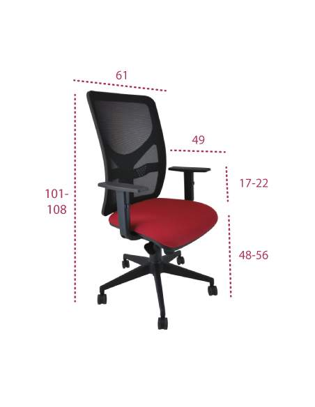 Medidas sillas escritorio xarly de vincolo