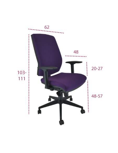 Medidas silla oficina tapizada cronos de vincolo