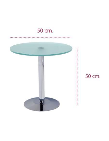 Medidas mesa centro baja de cristal de rocada
