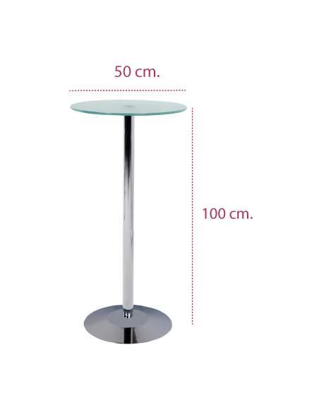 Medidas mesa alta cristal para taburetes de rocada