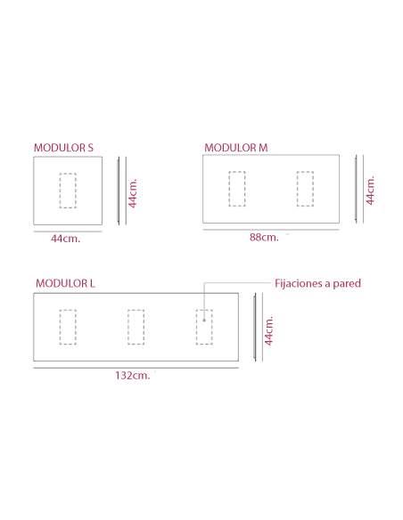 Medidas paneles metálicos modulares modulor de systemtronic