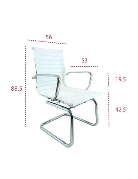 Medidas silla confidente blanca jr de vincolo en polipiel blanca