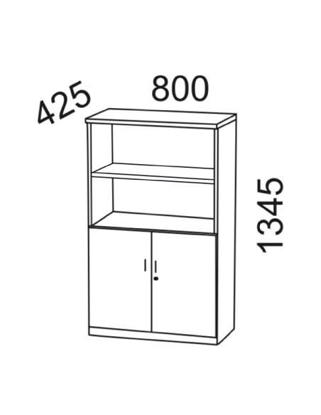 Medidas armario oficina con puertas bajas de kesta
