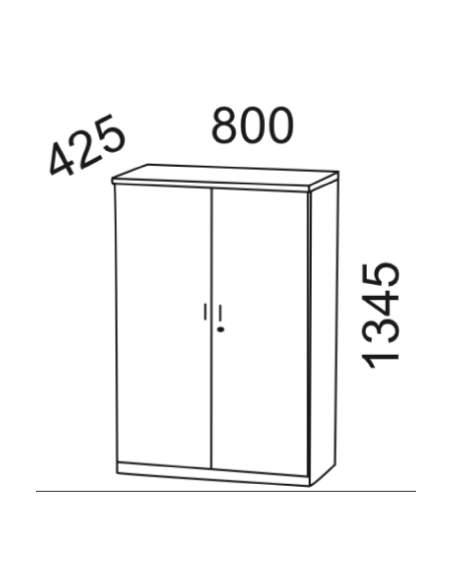 Medidas armario oficina con puertas y cerradura de kesta