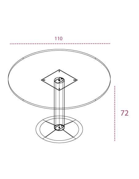 Medidas mesa de reunión redonda de madera g3 de jgorbe