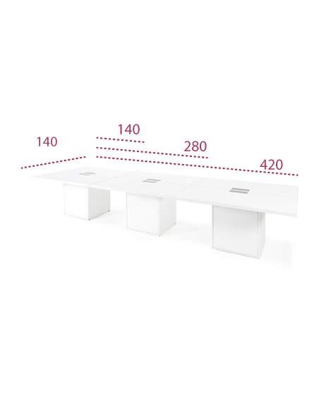 Medidas mesa de reuniones rectangular g3 de jgorbe