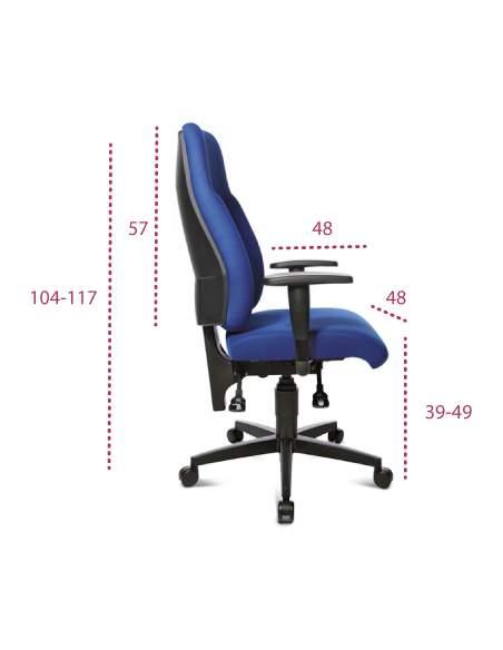Medidas silla oficina ergonomica lady sitness de topstar