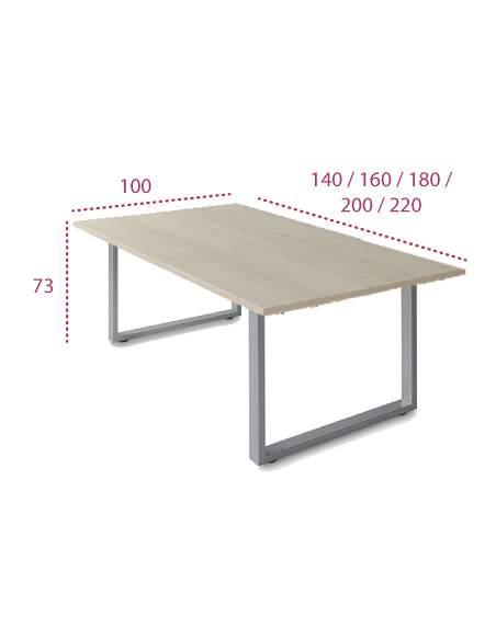 Medidas mesa de reunion rectangular skala de jgorbe