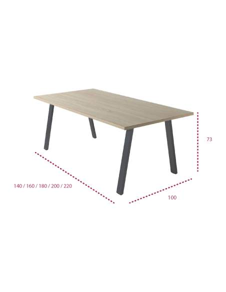 Medidas mesa de reunión rectangular atrio de jgorbe