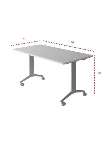 Medidas mesa reunion rectangular plegable polivalente jgorbe
