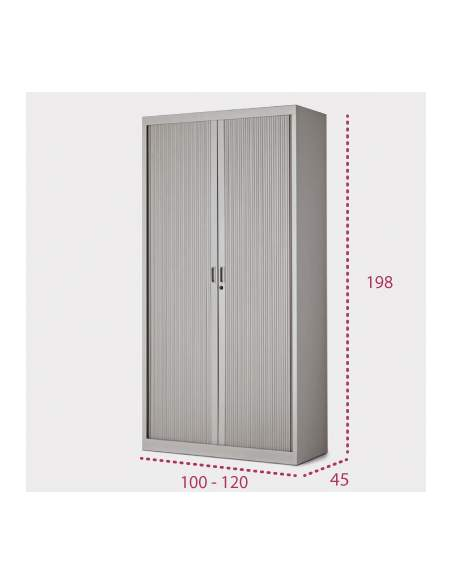 Medidas armario metálico persiana vertical de 198 cm. altura de more squared