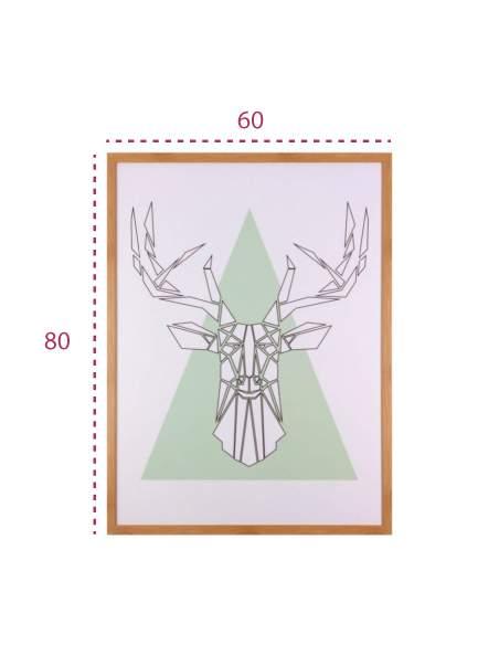Medidas cuadro moderno pirámide y ciervo de somcasa