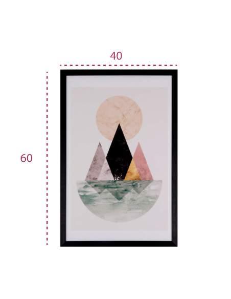 Medidas cuadro decorativo con una isla y sol moderno de somcasa