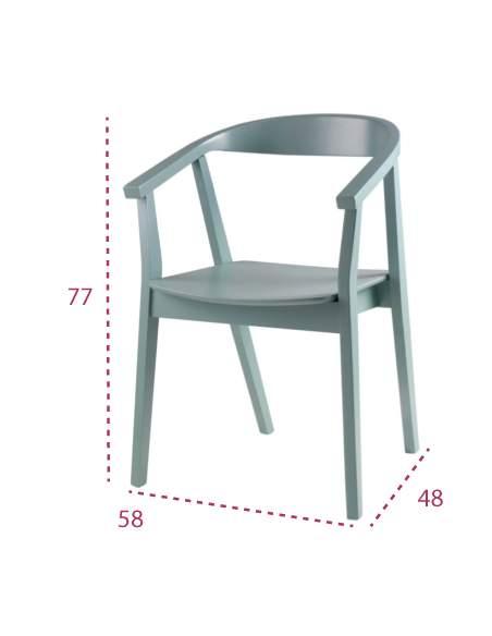 Medidas silla madera moderna Donna de somcasa