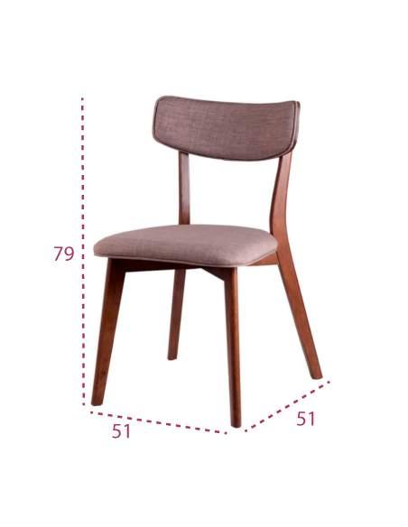 Medidas silla madera clásica Anais de Somcasa