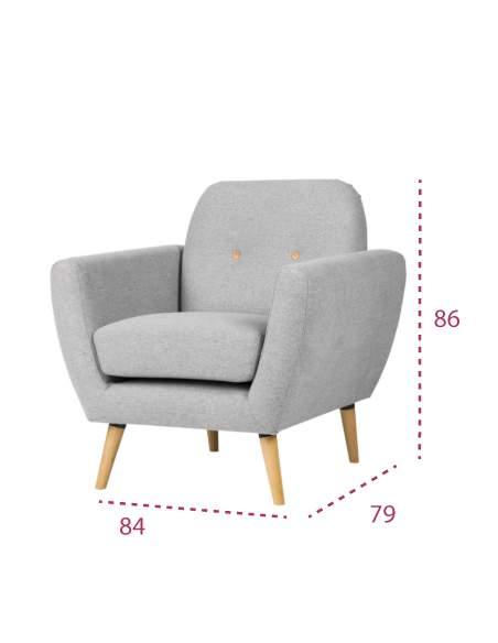 Medidas sofá 1 plaza estambul de somcasa