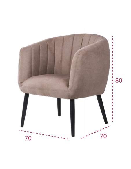 Medidas sillón tapizado moderno venice de somcasa