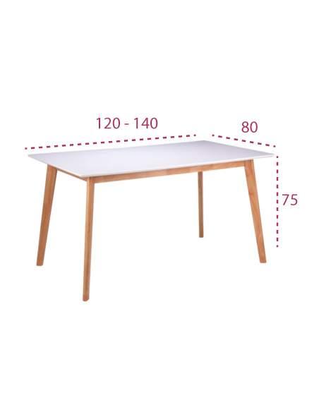 Medidas mesa estilo nórdico alice-marie de somcasa