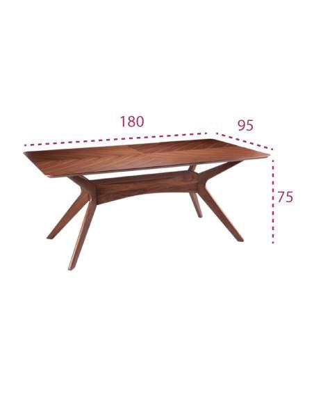 Medidas mesa rústica de madera helga de somcasa