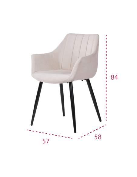Medidas silla de diseño de comedor moderno Fiona de Somcasa