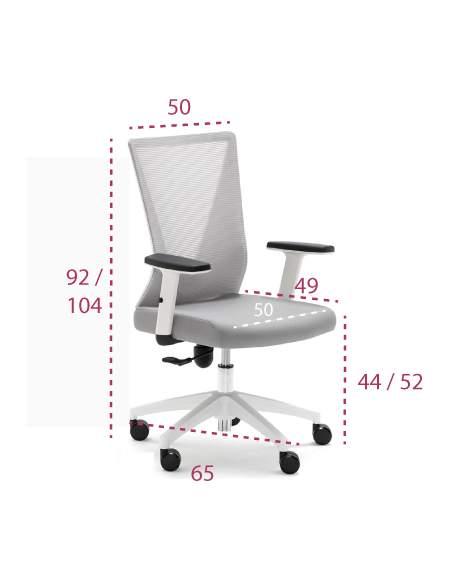 Medidas silla oficina gris tirana de euromof