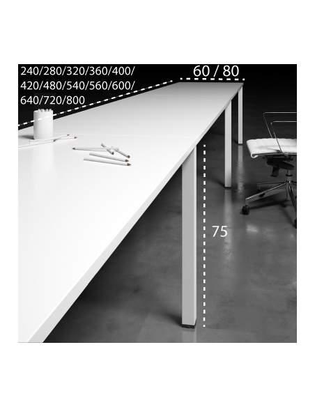 Medidas mesas multipuesto lineales arco de aic martínez medina