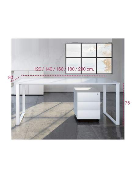 Medidas escritorio de oficina q60 de aic martínez medina
