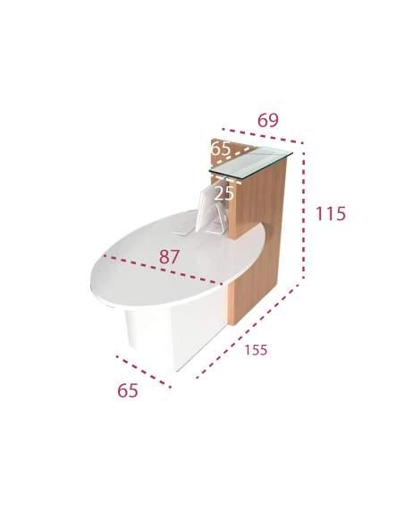 Medidas mostrador de recepción Ovo de MDD