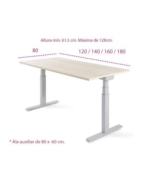 Medidas mesa de oficina elevable level 2 motores de jgorbe