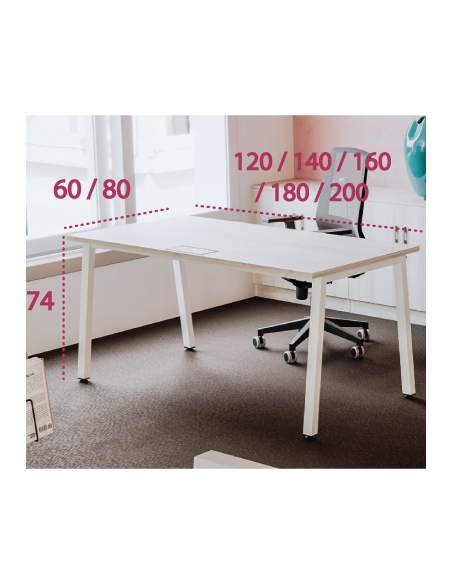 Medidas mesa de oficina Torii de Kesta