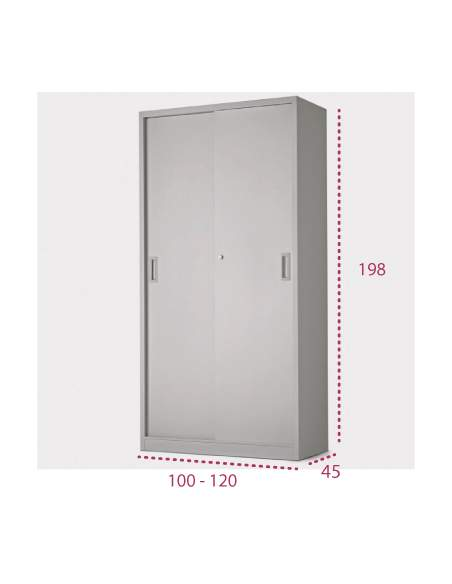 Medidas armario metálico con puertas correderas de more squared